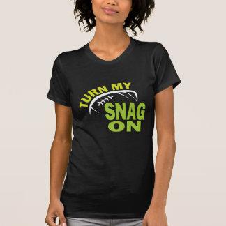 Turn My Snag On - Football Receiver (dark) T Shirt