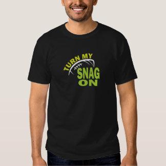Turn My Snag On - Football Receiver (dark) T-shirt