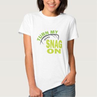 Turn My Snag On - Football Receiver T-shirt