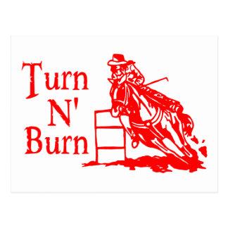 TURN N BURN POSTCARD