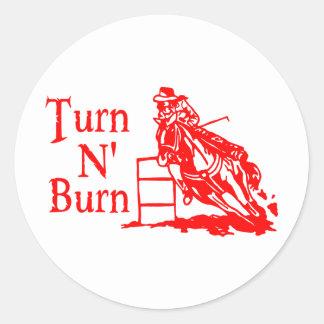 TURN N BURN STICKERS
