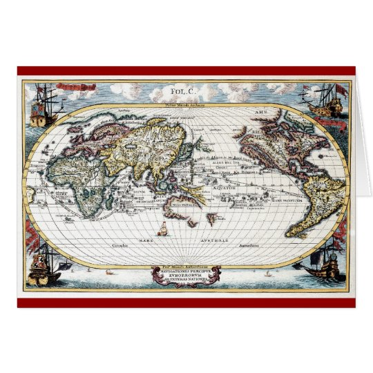 Turn Of The 18th Century World Map Zazzle Com
