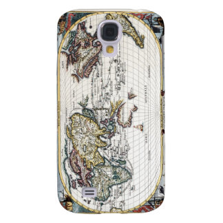 Turn of the 18th century world map galaxy s4 case