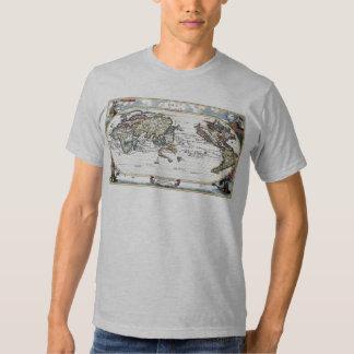 Turn of the 18th century world map shirt