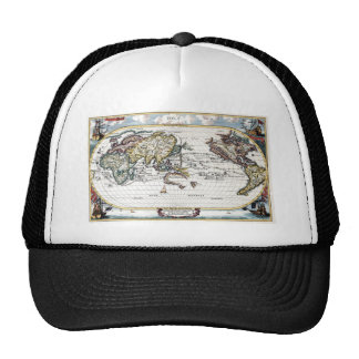 Turn of the 18th century world map trucker hat