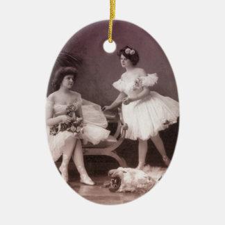 Turn of the Century Ballerinas Ceramic Ornament