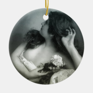 Turn of the Century Beauty Ceramic Ornament