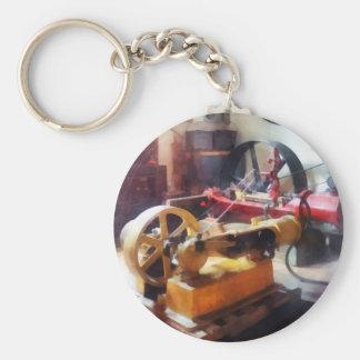 Turn of the Century Machine Shop Basic Round Button Keychain