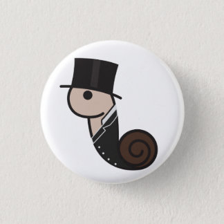 Turn of The Century Snail Pinback Button