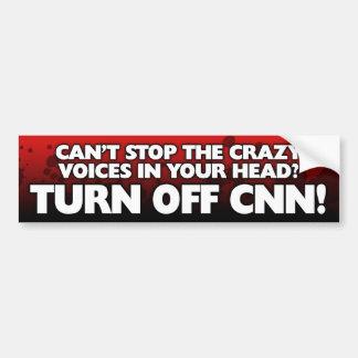 """Turn Off CNN"" Bumper Sticker"
