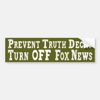 Turn Off Fox News Bumper Sticker
