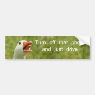 Turn off that phone bumper sticker