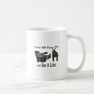 Turn off you TV and Get A Life Mugs