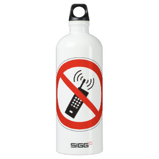 Turn Off Your Cell Phone Water Bottle