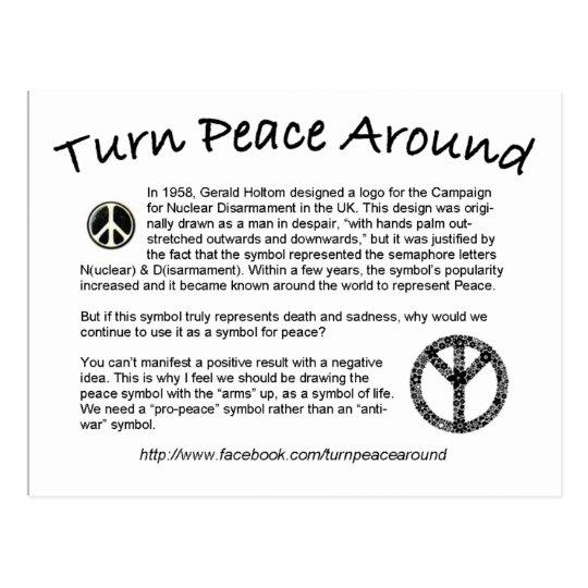 Turn Peace Around postcard