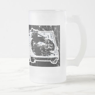 Turn Tables Frosted Glass Beer Mug