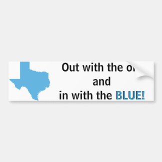 Turn Texas Blue Bumper Sticker