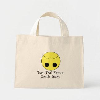 Turn That Frown Upside Down Mini Tote Bag