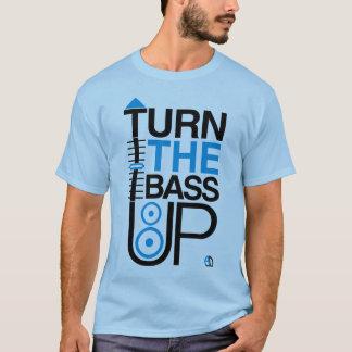 TURN THE BASS UP - Crossfader & Speaker Blue T-Shirt