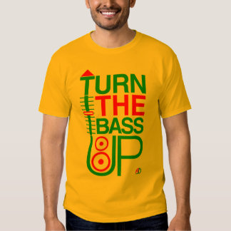 TURN THE BASS UP - Reggae colours - Crossfader DJ T-Shirt