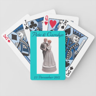 Turn the Card-We're Married! Bicycle Playing Cards