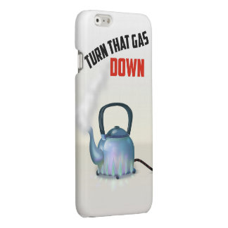 Turn the Gas Down vintage poster Glossy iPhone 6 Case