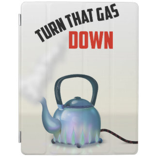 Turn the Gas Down vintage poster iPad Smart Cover
