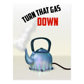 Turn the Gas Down vintage poster Postcard