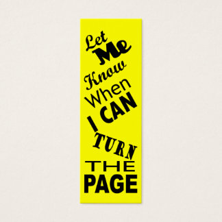 Turn the page Commuter Bookmark Mini Business Card