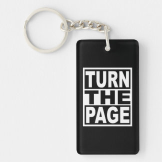 Turn the Page Keychain