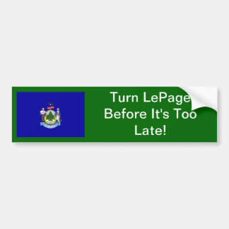 Turn The Page On LePage Bumper Sticker Car Bumper Sticker