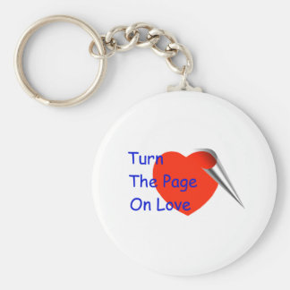 Turn the Page on Love Keychain