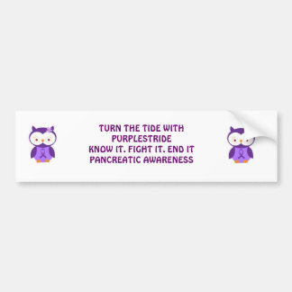 Turn the Tide with PurpleStride bumper sticker