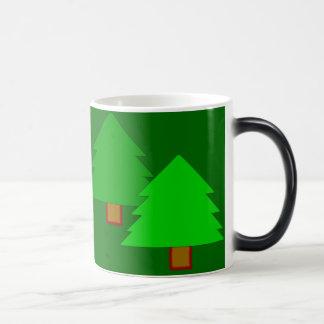 Turn to blue forest mug. magic mug