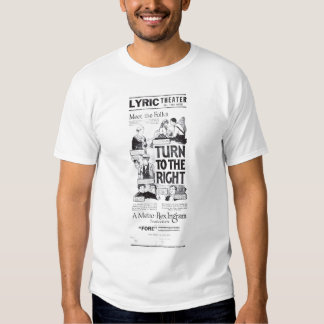 'Turn To The Right' 1922 vintage movie ad T-shirt