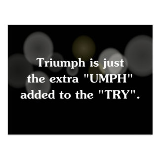 Turn try into triumph (2) postcard