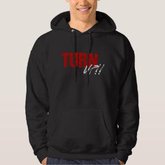 Turn UP Hoodie (black/red)