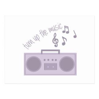 Turn Up Music Postcard