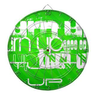 Turn Up; Neon Green Stripes Dartboards