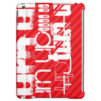 Turn Up; Scarlet Red Stripes Cover For iPad Air
