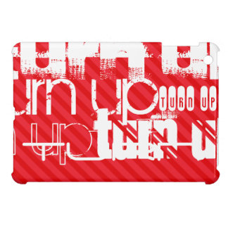 Turn Up; Scarlet Red Stripes iPad Mini Cover