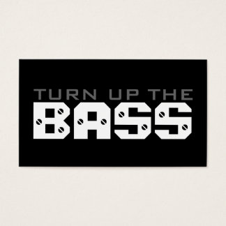 turn up the BASS Business Card