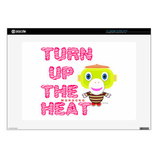 "Turn Up The Heat-Cute Monkey-Morocko Skin For 15"" Laptop"