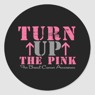 Turn Up The Pink Breast Cancer Stickers