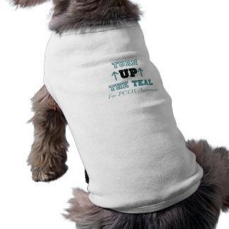 Turn up the Teal Dog Shirt