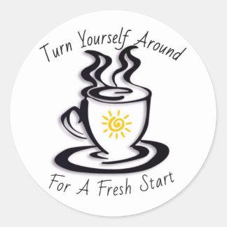 Turn Yourself Around for a FRESH START Classic Round Sticker