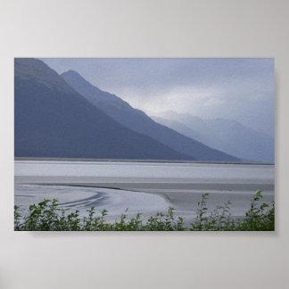 Turnagain Arm ; Alaska USA Poster