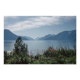 Turnagain Arm, Anchorage Alaska Mountain Decor Poster