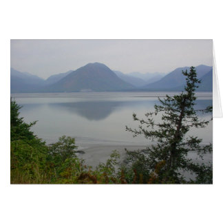 Turnagain Arm on a cloudy, summer's day in Alaska Greeting Card