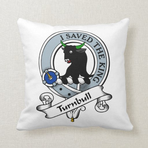 Turnbull Clan Badge Throw Pillow